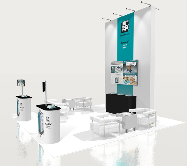 Trade Show Booth Lounge : Tradeshow design tower and lounge lisa laser