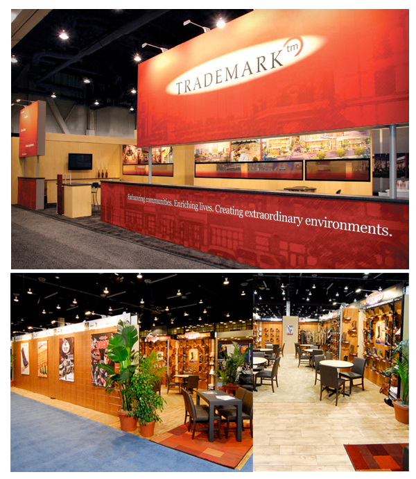 Trade Show Booth Objectives : Custom trade show booth trademark