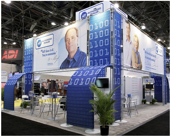 Trade show booth design: ADT