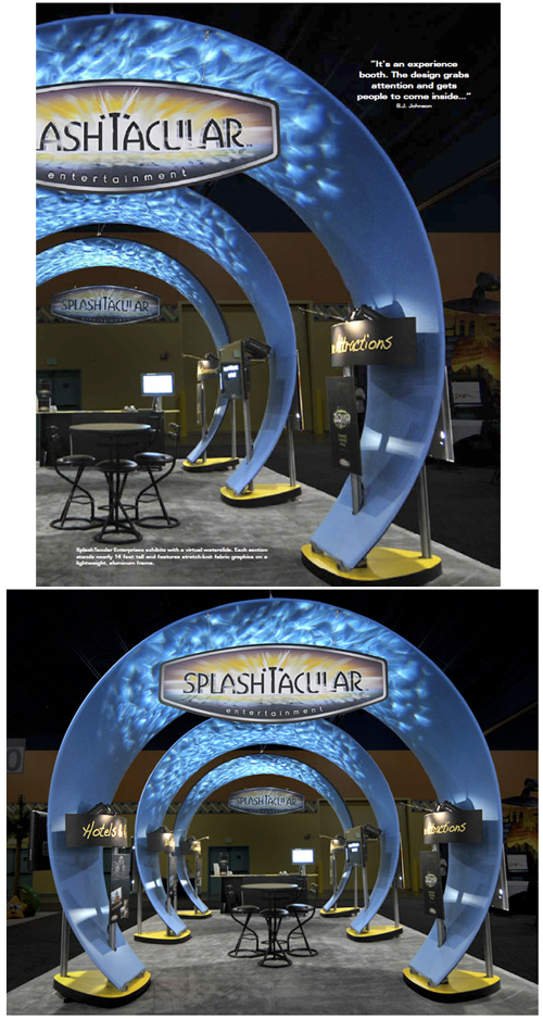 virtual water fall cool booth