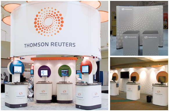 trade show booth: thomas reuters