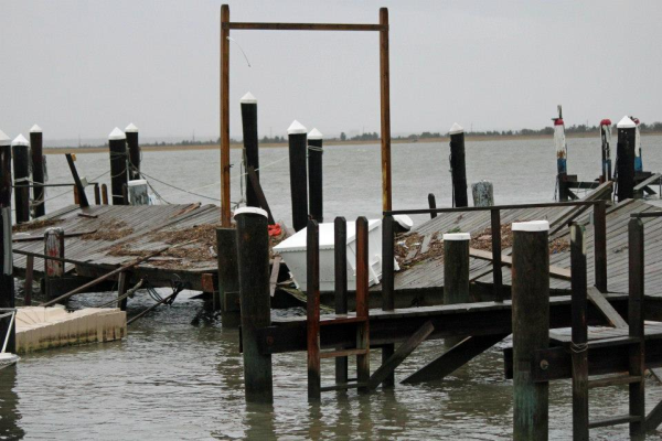 dock damage, hurricane, sandy, flood, storm surge, Ventnor, NJ