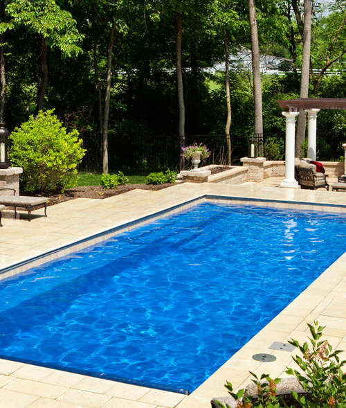 Above Ground Pool On A Sloped Backyard : fiberglass pool start here every pool project is different pool