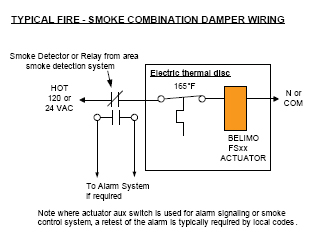 the asked question about fire and smoke dampers wiring fire and smoke damper actuator