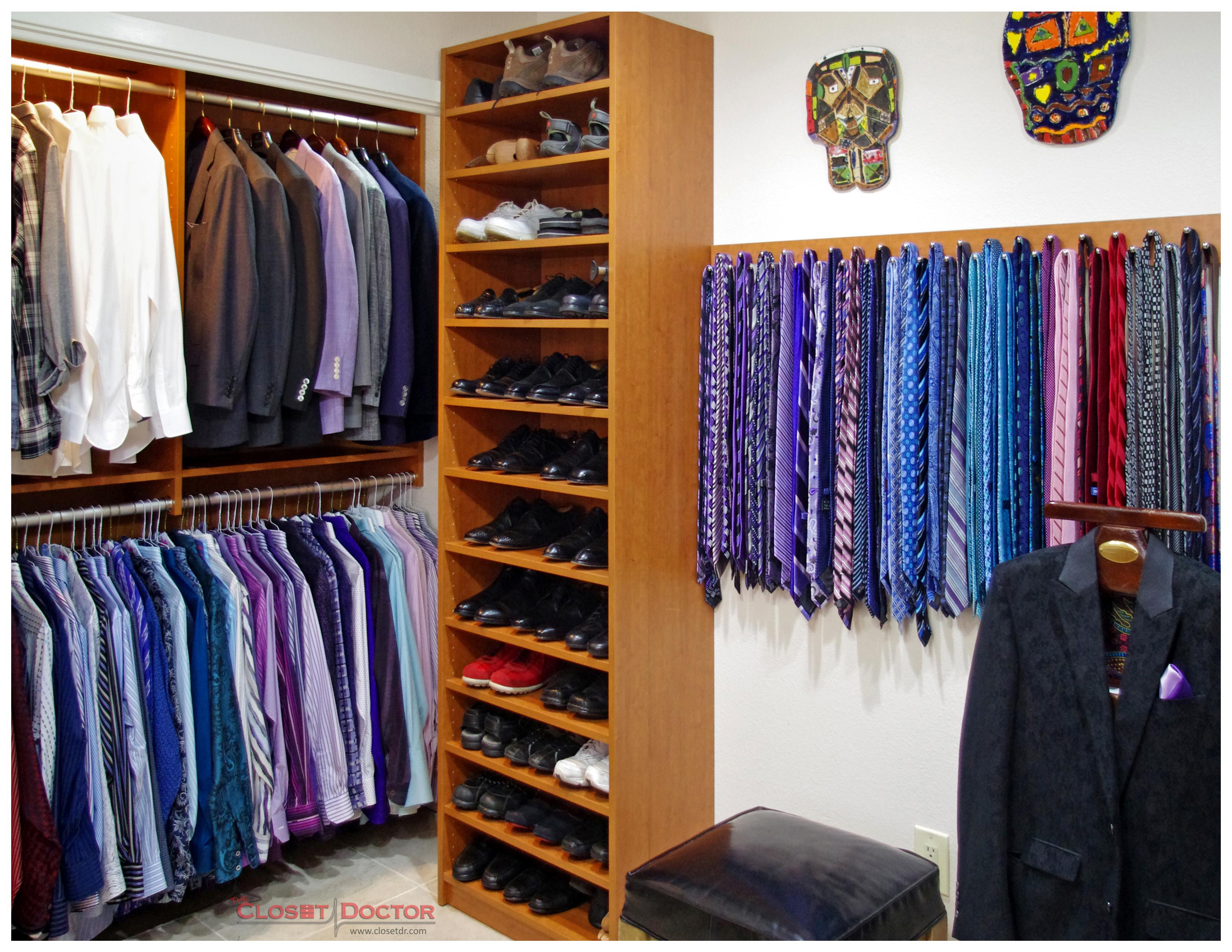 Mens Closet men like an organized closet too!