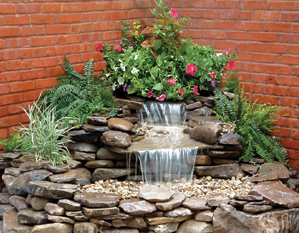 Corner falls waterfall box for Garden pond building instructions