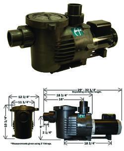 External pond pumps for External pond filter with pump