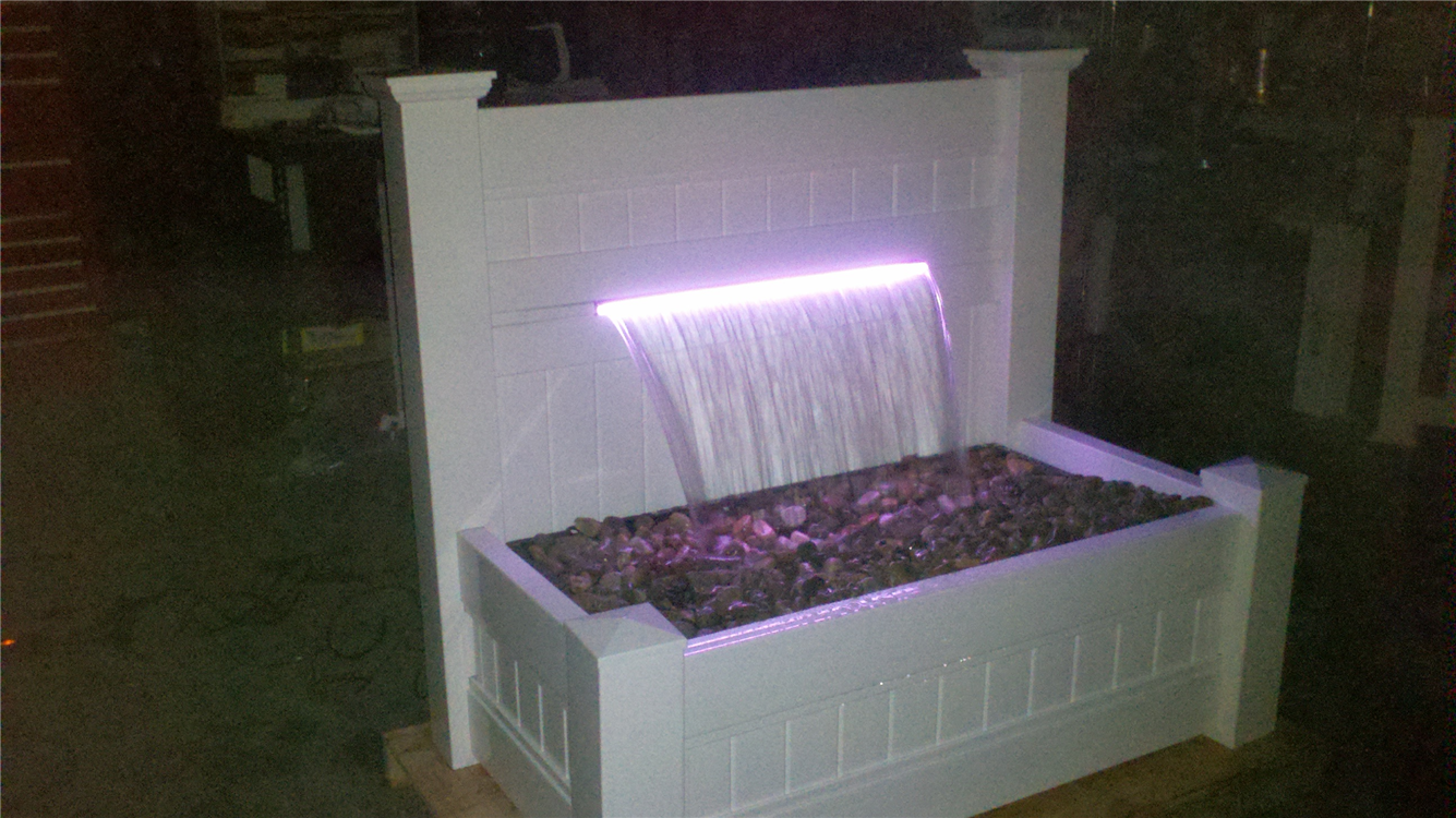 ... Each Patio Waterfall Comes With An IR Remote Which Enables Viewers To  Control The Rotating Or ...