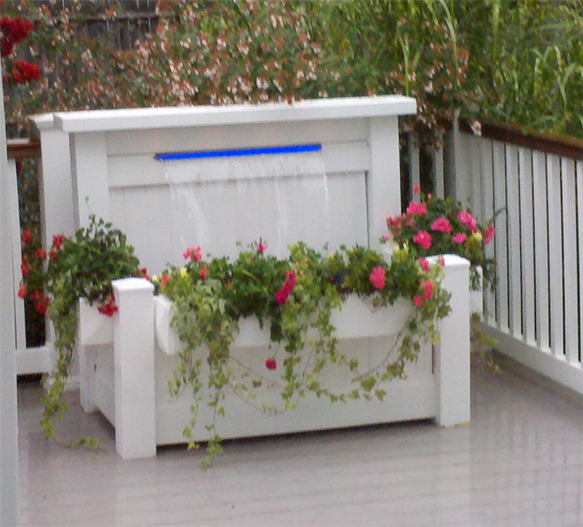 ... The Patio Waterfall Is A Complete Waterfall Kit. Just Add Water And  Your Plants To