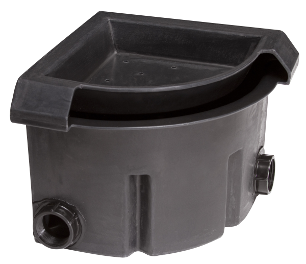 Corner falls waterfall box for Small pond filter box