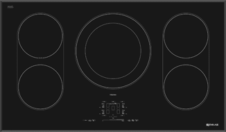 Superb Jennair 36 Inch Induction Cooktop JIC4536XS
