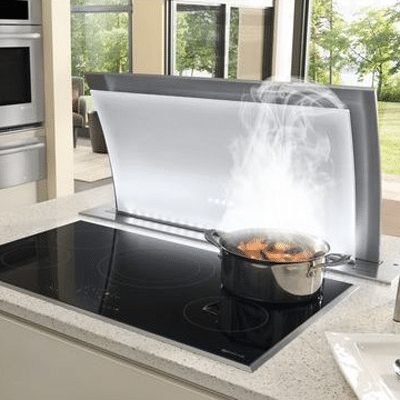Most powerful strongest downdraft ventilation reviews for Stove top with built in vent