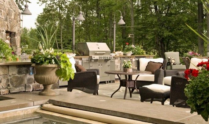 outdoor backyard bbq