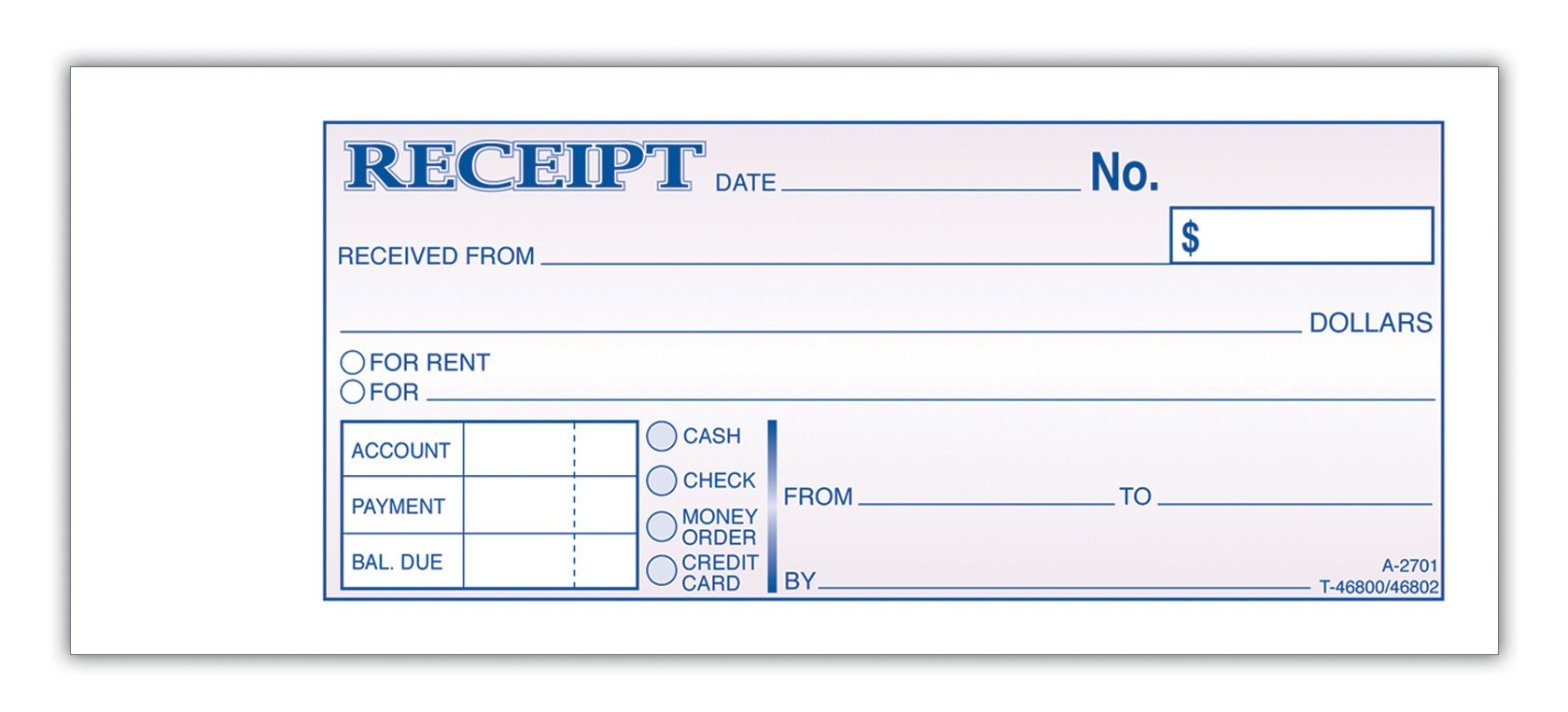 Received Receipt Format Template Examples – Payment Receipt Form