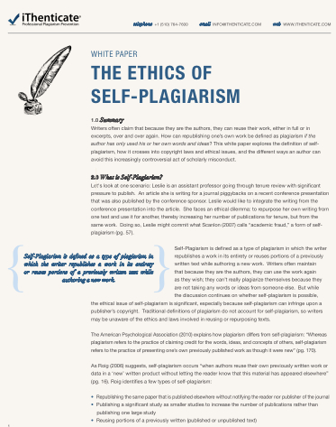 plagiarism an academic pandemic essay Plagiarism in academic writing the purpose of academic paper, more often than not, is to stimulate the student to make a written presentation of.