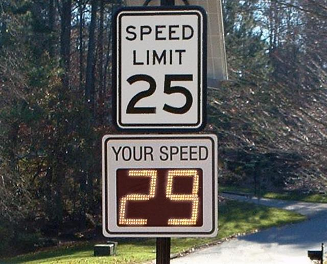 radar speed sign nj