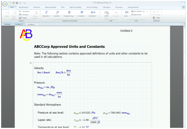 How to add templates to your Mathcad Prime 3.0 worksheets