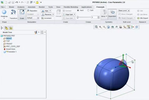 Creo parametric Freeform