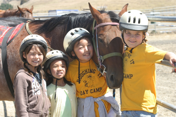 camp friends (and horses!) make the best friends