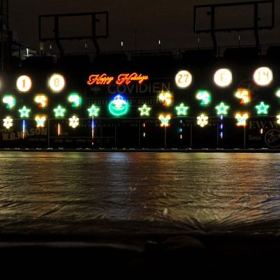 365 things to do in Boston, fenway park winter light show, fenway/kenmore, red sox
