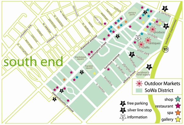 SoWa South End map