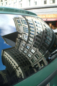 financial district reflection