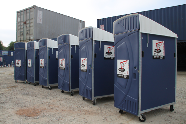 johnny on the spot rents highrise portable toilets