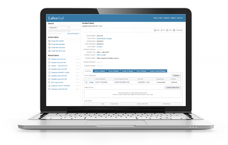 Cloud Based Employee Relations Case Management