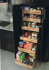 Pantry Cabinet: Food Storage Pantry Cabinet with Top Kitchen ...