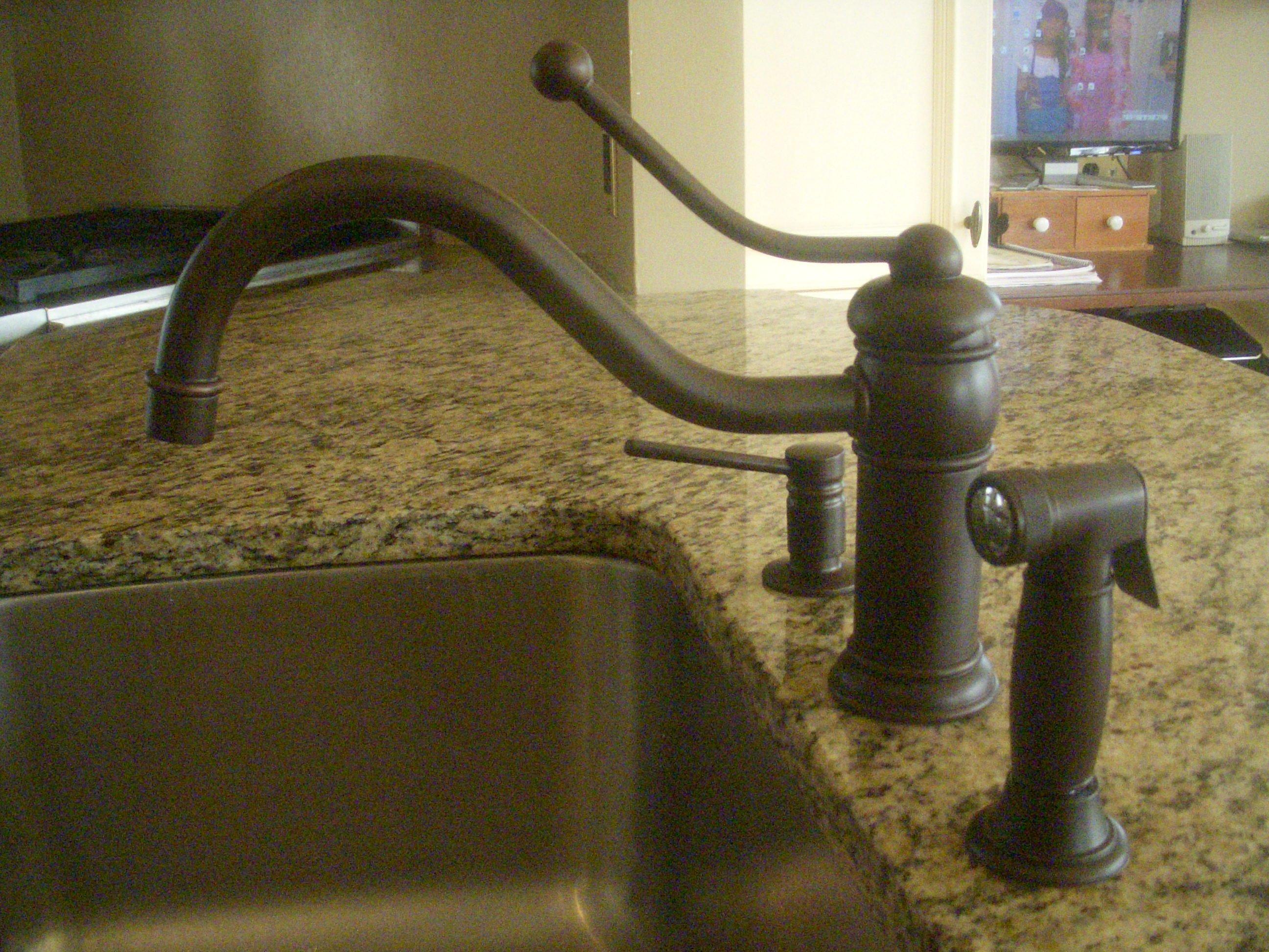 bronze handle pull kitchen faucet delta savile shop