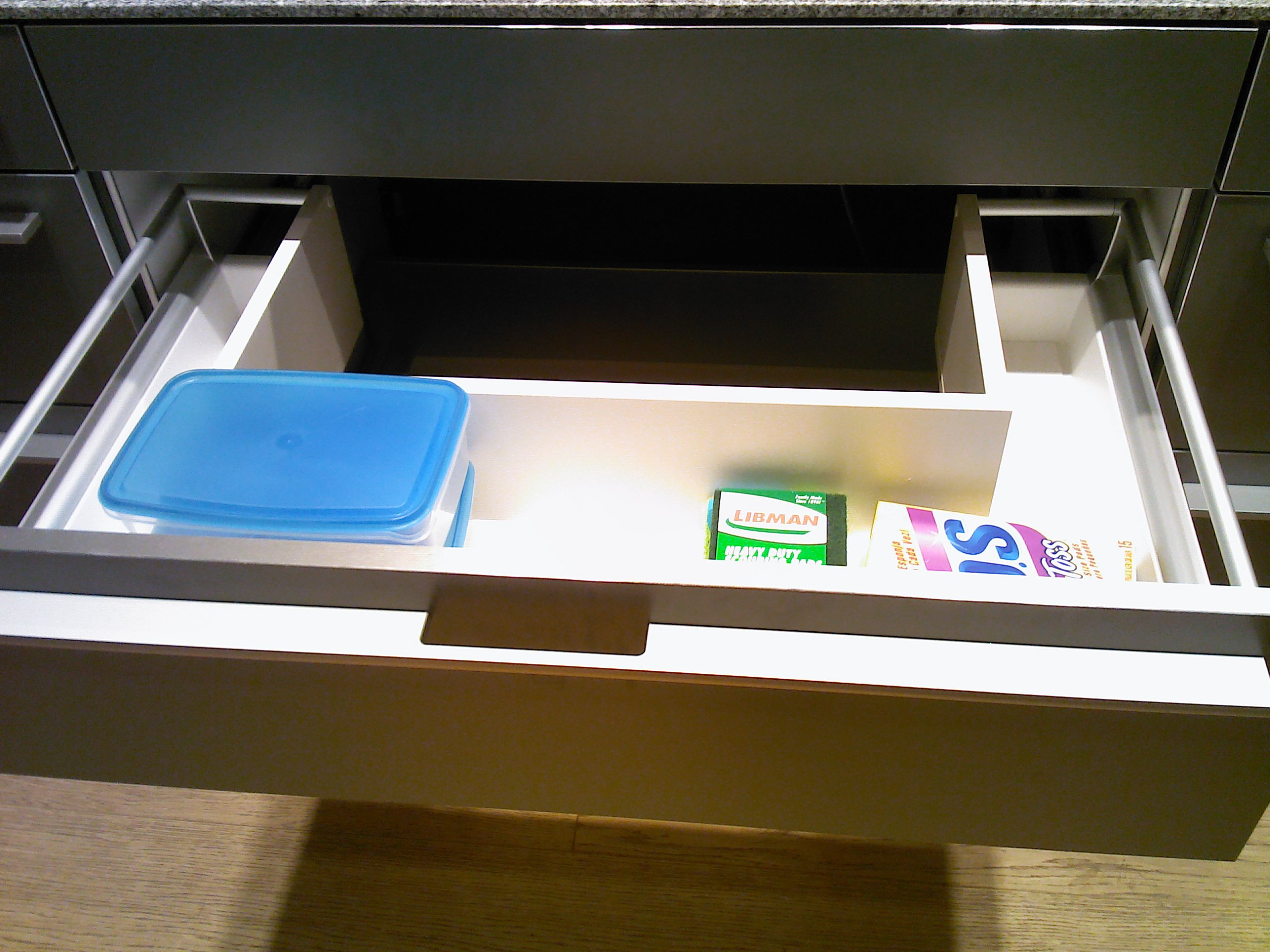 This U Shaped Drawer Captures The Space Around The Under Mount Sink