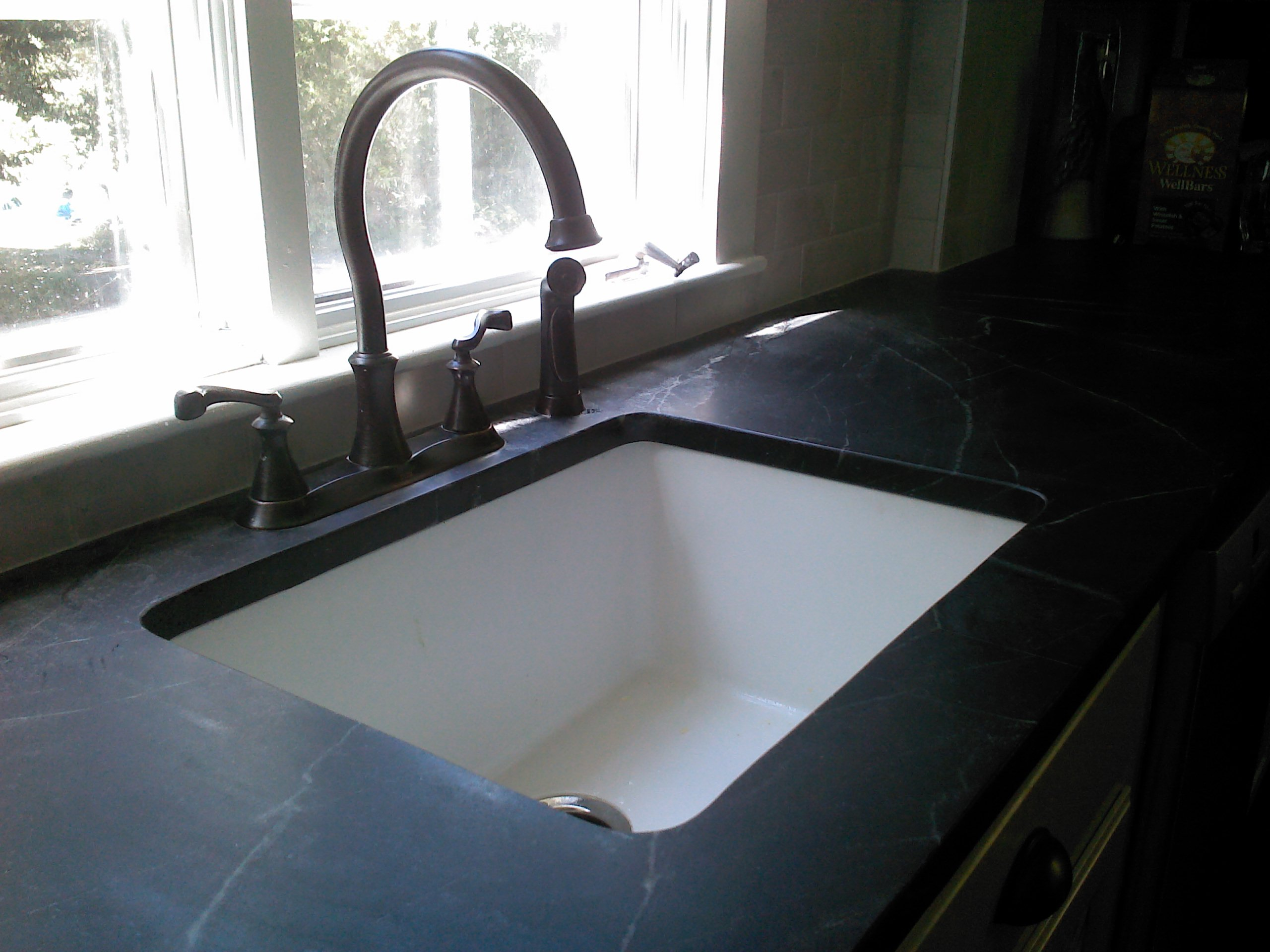 kitchen sinks with soapstone countertops