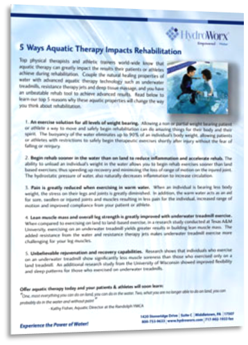 why is aquatic therapy better than land therapy essay Effects of aquatic therapy and land-based therapy versus land-based   summary of studies  summary of intervention characteristics.