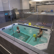 Aqua fitness in HydroWorx hydrotherapy pool resized 176