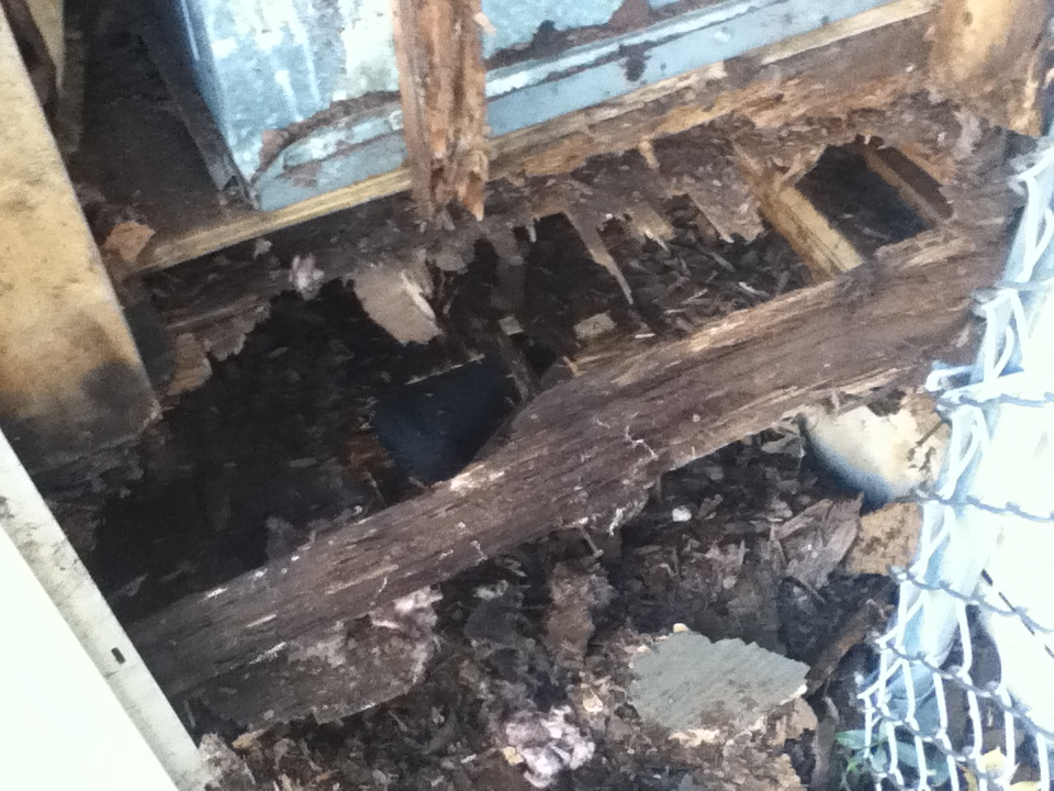 Rotted Chimney Floor Joist Framing