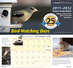 Any day spent watching birds is a good day on this calendar!