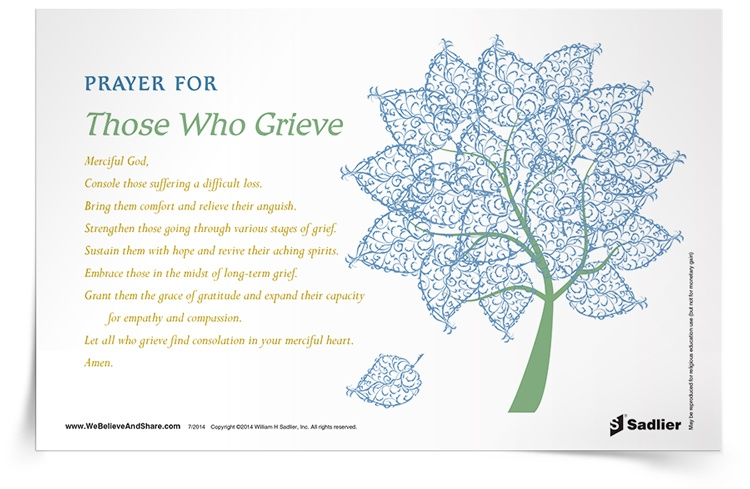 <em>Prayer for Those Who Grieve</em> Prayer Card