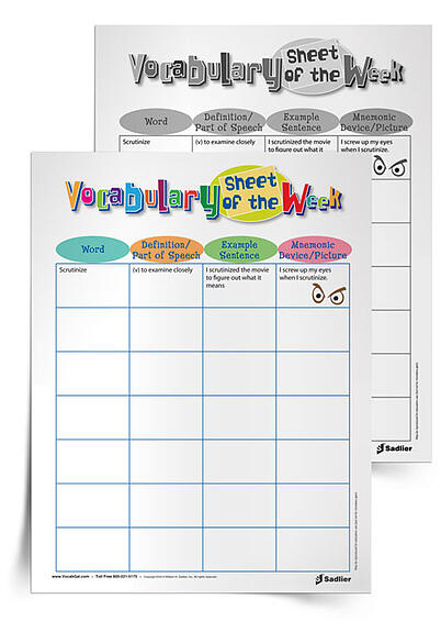 vocabulary-sheet-of-the-week