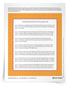 <em>7 Spiritual Practices for Everyday Life</em> Reflection