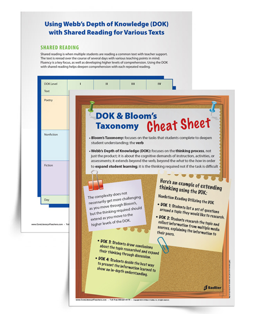 DOK-and-Bloom's-Taxonomy-Cheat-Sheet-and-Shared-Reading-Chart