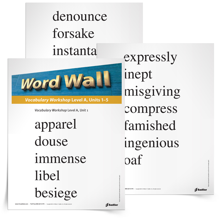 6th grade vocabulary word wall printable