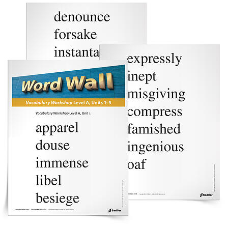 6th grade vocabulary word wall printable