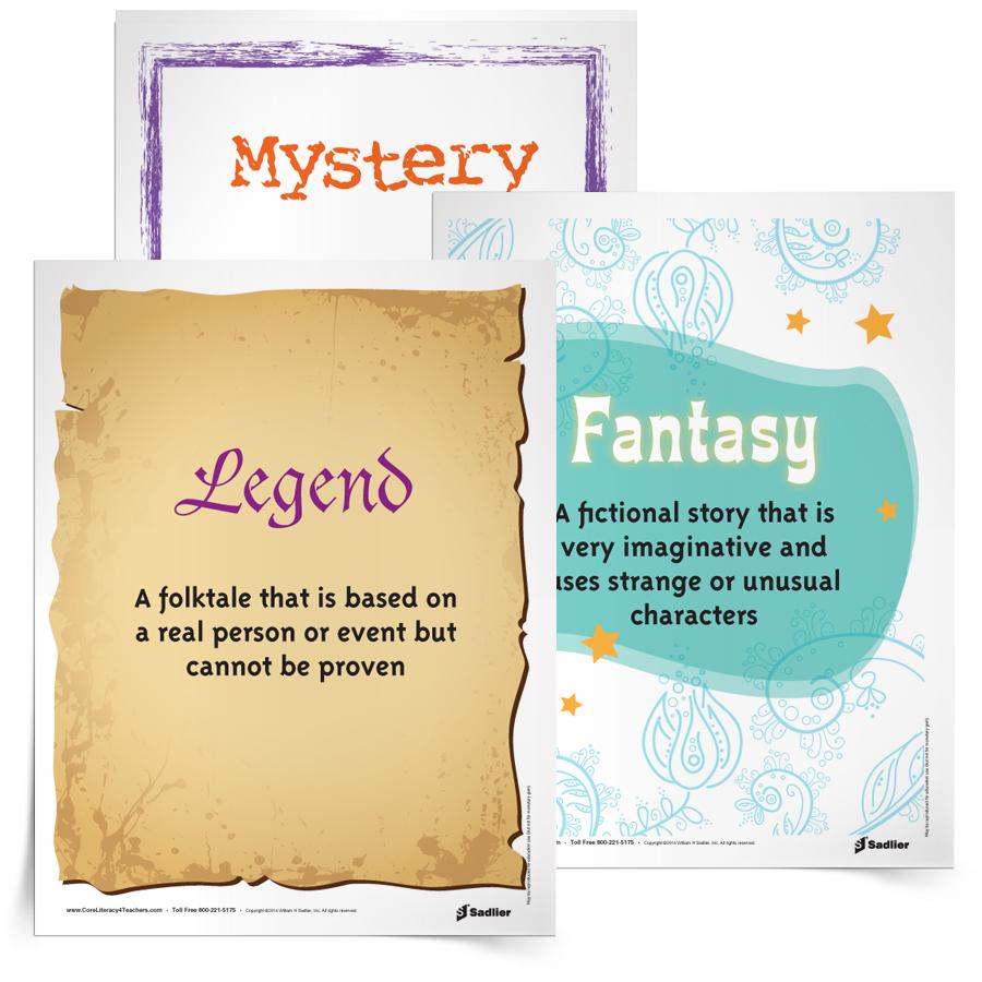 <em>Classroom Library Genre</em> Posters