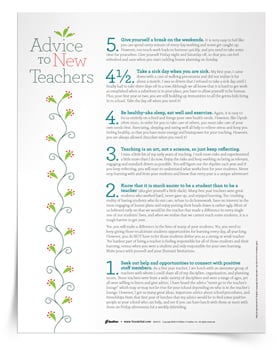 <em>Advice to New Teachers</em> Tip Sheet