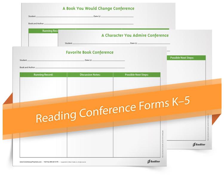 <em>Initial Student Reading Conference</em> Forms
