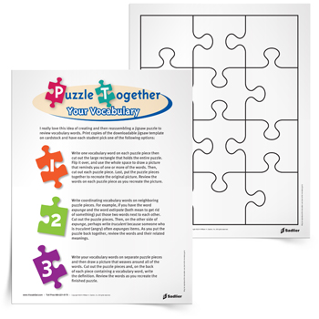 <em>Puzzle Together Your Vocabulary</em> Activity