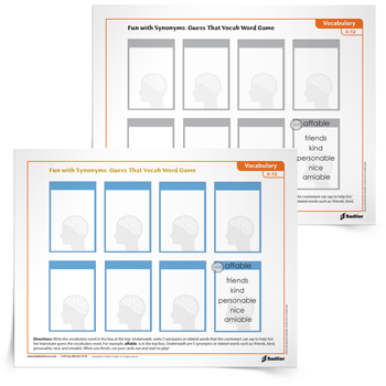 photograph regarding Printable Vocabulary Games named 17 Printable Vocabulary-Designing Game titles