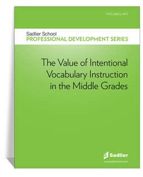 <em>The Value of Intentional Vocabulary Instruction in the Middle Grades</em> eBook