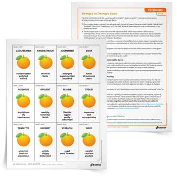 8 strategies for teaching ell students vocabulary words oranges to oranges vocabulary gamethumb350px fandeluxe Images