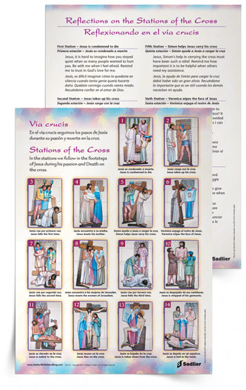 graphic relating to Stations of the Cross Prayers Printable known as Holy 7 days Elements for Households